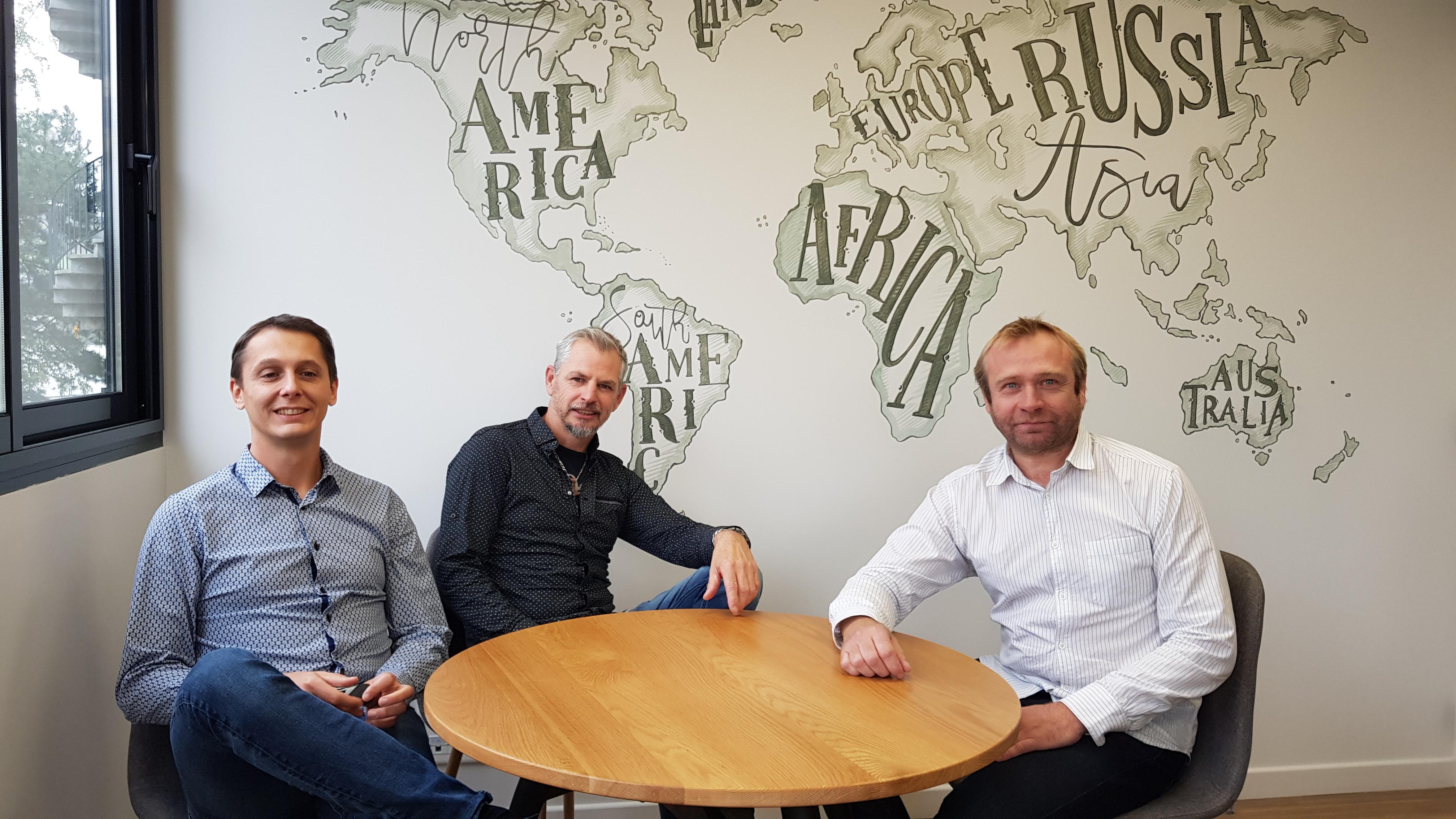 Les 3 fondateurs de Supernova Juniors, Messieurs Julien CARRET, Yannik L'HOMME et Christian BRUN